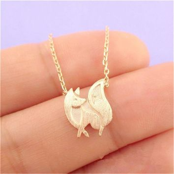 Shunyun One Piece Cute Animal Baby Fox Pendant Necklace Fox Charm Necklace Fashion Jewelry Gift For Friends