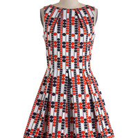 Audrey's Top of the A-line Dress in Mod Dots | Mod Retro Vintage Dresses | ModCloth.com
