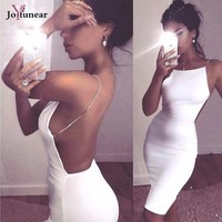 Summer Fashion Metal Sling dress 2017 Sleeveless Casual Elegant Dress Women Sexy Club Cocktail Party Bodycon Bandage Dress