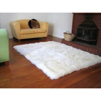 Faux Fur Sheepskin Shag Area Rug Ivory (3'6 x 5'6) | Overstock.com Shopping - The Best Deals on 3x5 - 4x6 Rugs