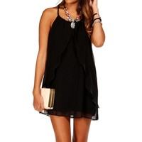 Black Ruffle Tunic