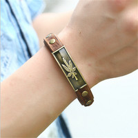 Hemp Love 420 Leather Fashion Bracelet