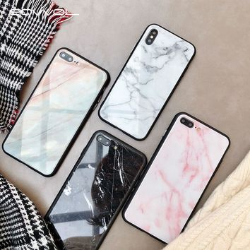 Marble Tempered Glass Phone Case