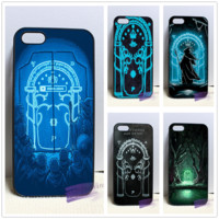 Magic Gate of Moria lotr lord of the ring fashion cell phone case cover for  4 4s 5 5s 5c SE 6 6s plus 7 plus #KA67