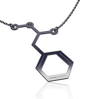 Methamphitamine necklace -925 Silver , chemistry jewelry, chemistry necklace, molecule necklace
