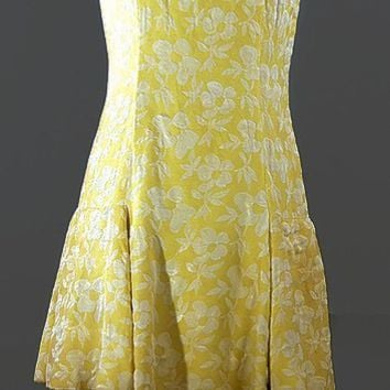 Saks Fifth Ave 1960 Brocade Scooter Dress, Just In