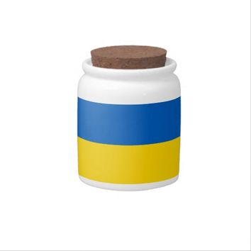 Ukraine Flag on Candy Jar