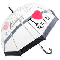 I Love Rain PVC Domed PVC Umbrella