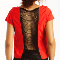 fringe-back-top BLACK BLUE RED - GoJane.com
