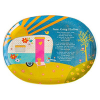 Melamine Platter Camper Pass Along by Natural Life