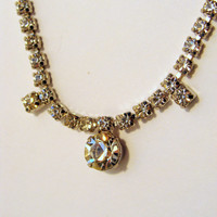 14 inch Simple Rhinestone Necklace