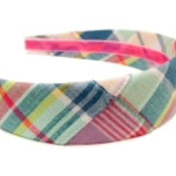 Pawtucket Patchwork Madras Headband by High Cotton