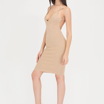 Out In The Open Back Ribbed Midi Dress GoJane.com