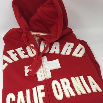 Lifeguard Red Full Zipper Hoodie - Size 2XL - CASE OF 24