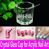 Women 1 piece Crystal Glass Cup For Acrylic Nail Art