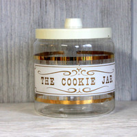 vintage pyrex cookie jar // glass cookie jar