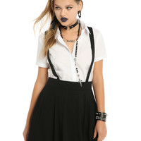 Black Suspender Circle Skirt