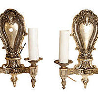 Silver Gilt Sconces, Pair