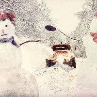 Flight of the Snowmen, Instant Download, 30 x 20 inches, digital download