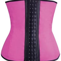 Gym Work Out Waist Trainers Hot Pink Lg