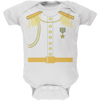 Halloween Prince Charming Costume White Soft Baby One Piece
