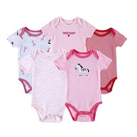 Summer Cotton Baby Rompers Toddler Jumpsuit Baby Girls Boys Newborn Overall Clothes Baby Clothing 5 PCS