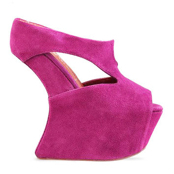 TONITE WEDGE - FUCHSIA   JEFFREY CAMPBELL