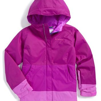 Girl's Columbia 'Tenacious' Omni-Tech Weatherproof Hooded Jacket,