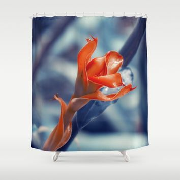 Ginger Flower Shower Curtain by Cinema4design | Society6