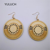 African Unfinished Round Earrings