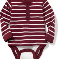 2-in-1 Striped Henley Bodysuit for Baby | Old Navy