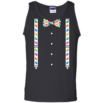 Easter Jelly Beans Bow Tie & Suspenders T-Shirt Tank Top