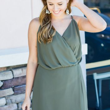 On The Rocks Dress - Olive