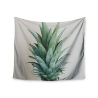 "Chelsea Victoria "" The Pineapple"" Green Gold Wall Tapestry"