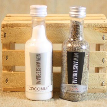 Mini Liquor Bottle Salt & Pepper Shakers Upcycled from New Amsterdam Mini Liquor Bottles