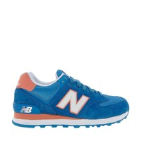 New Balance 574 Suede and Mesh Blue Trainers
