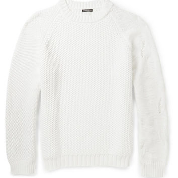 Ann Demeulemeester - Contrast Chunky-Knit Sweater | MR PORTER