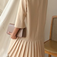 Pleated Frill Dress