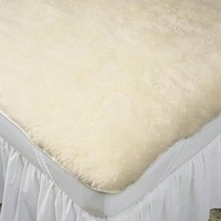 Slumberfleece Wool Strap-Fit Mattress Pad