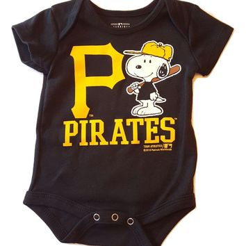 Pittsburgh Pirates Newborn Infant Creeper Snoopy Peanuts Baby Romper MLB
