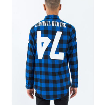 Criminal Damage - 47 Jack Long Shirt - Blue/Black