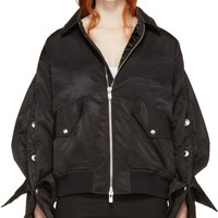 Black Popper Bomber Jacket