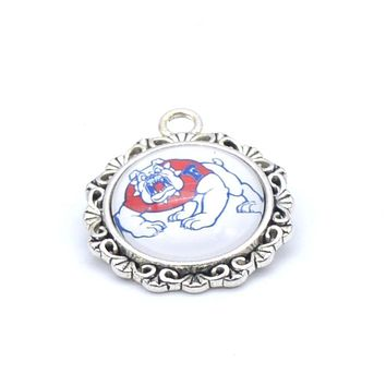 Pendant Accessories NCAA Fresno State Bulldog Charms Accessories for Bracelet Necklace for Women Men Basketball Fans Paty Fashio