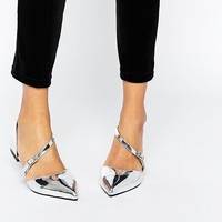 ASOS | ASOS LEAD THE WAY Wide Fit Pointed Ballet Flats at ASOS
