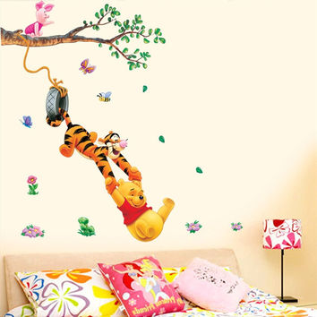 Trees And Bear Wall Sticker for Room Decoration