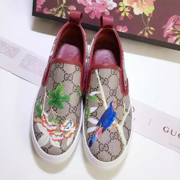LV Louis Vuitton Women Trending flower Casual Shoes Sneaker Sport Running Shoes best quality red