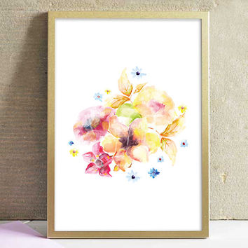 Printable Abstract Watercolor Flower Painting Art Poster Print Home Decor Office Decor Kitchen Decor Wall Art