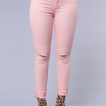 Beach Cruiser Jeans - Peach