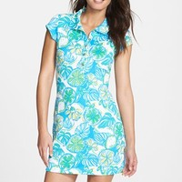 Women's Lilly Pulitzer 'Rayna' Print Pique Polo Shirtdress