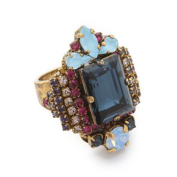 Crystal Statement Ring